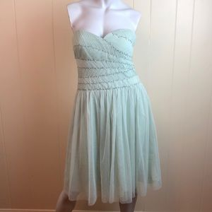 BCBGMaxazria Seafoam Green Holiday Party Dress